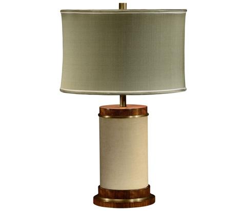 Jonathan Charles - Ivory Finish Hyedua Circular Table Lamp - 494969-CO1