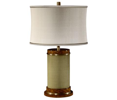 Jonathan Charles - Sage Finish Hyedua Circular Table Lamp - 494969-CO2