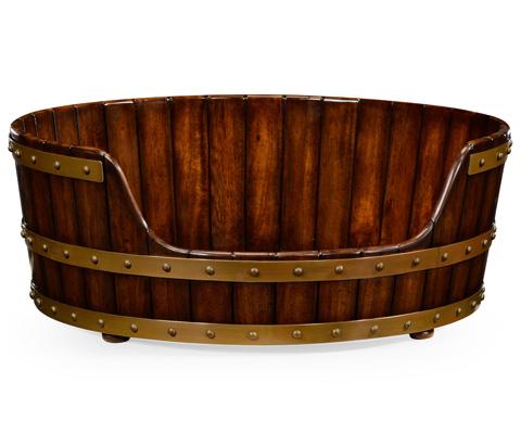Jonathan Charles - Walnut Wooden Dog Bed - 495053