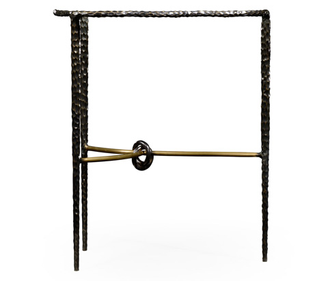 Jonathan Charles - Bronze Hammered Freeform Lamp Table - 495083-BRO