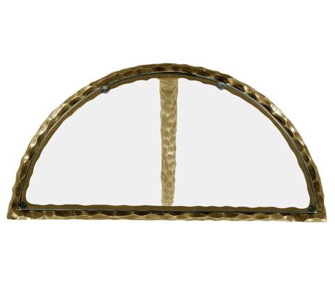 Jonathan Charles - Brass Hammered Pair of Wall Bracket Tables - 495088-BRA