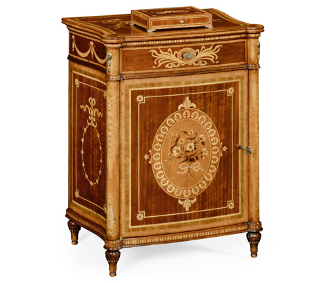 Jonathan Charles - Fine Mahogany Bedside Cabinet - 495158-LFT