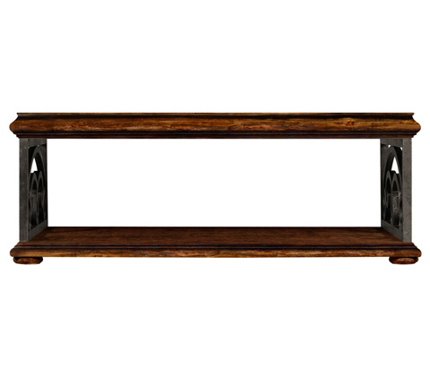 Jonathan Charles - Rustic Walnut Coffee Table - 495173-RWL