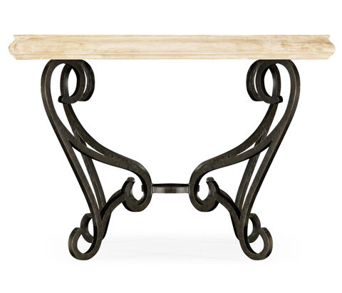 Jonathan Charles - Limed Wood and Glass Top Centre Table - 495192-LMA