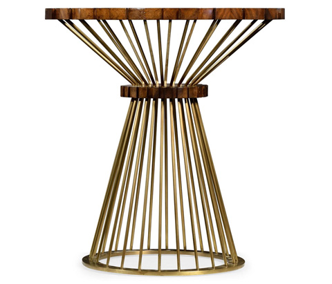 Jonathan Charles - Camden Round Brass Side Table - 495308