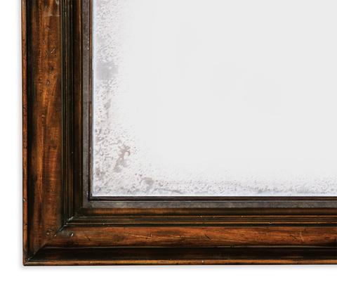 Jonathan Charles - Rectangular Rustic Walnut Antique Mirror - 495331-RWL