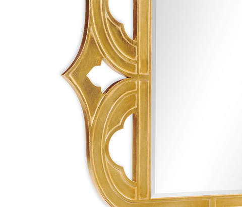 Jonathan Charles - Gilded Antique Gold-Leaf Mirror - 495336-GIL