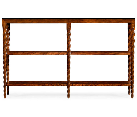 Jonathan Charles - Bookcase with Walnut Twisted Legs - 495339-WLL