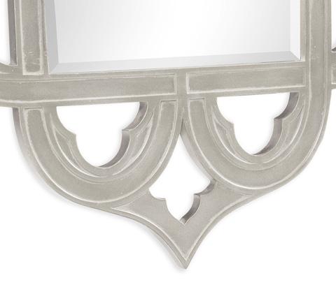 Jonathan Charles - Gilded Silver-Leaf Mirror - 495350-SIL