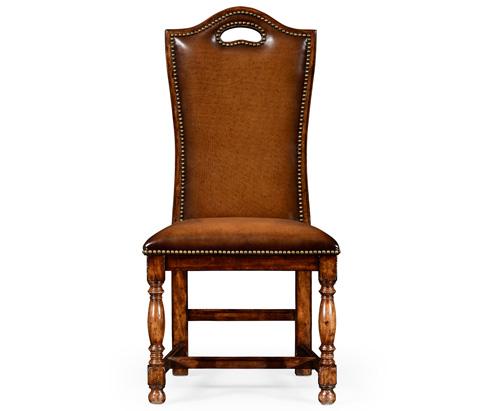 Jonathan Charles - Walnut Dining Side Chair - 50000A