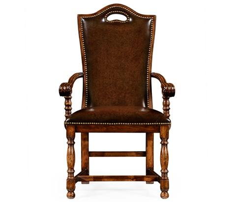 Jonathan Charles - Walnut Dining Arm Chair - 50001D