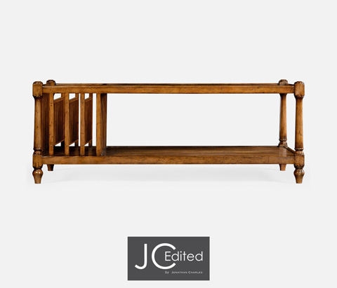 Jonathan Charles - Country Walnut Rectangular Coffee Table - 491012-CFW