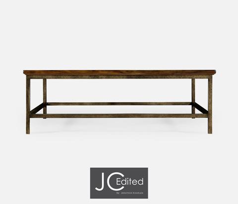 Jonathan Charles - Country Walnut Square Coffee Table - 491014-CFW