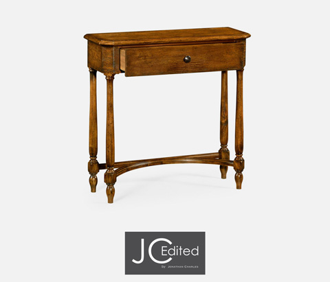 Jonathan Charles - Country Walnut Small Console Table - 491017-CFW