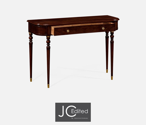Jonathan Charles - Console Table with Drawer In Antique Mahogany - 491033