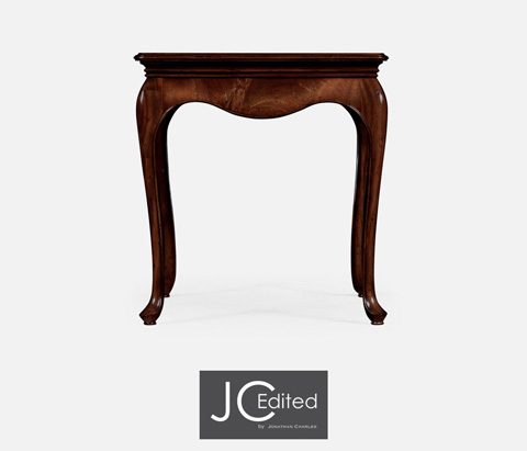Jonathan Charles - Square Side Table in Antique Mahogany - 491034