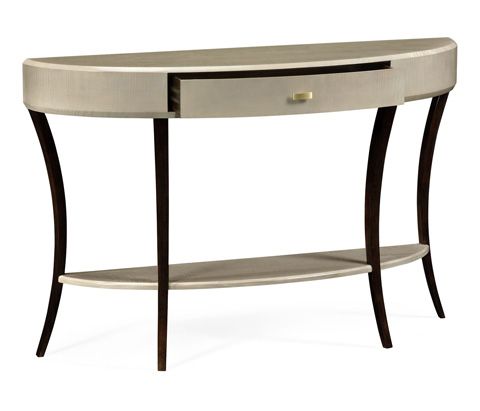 Jonathan Charles - Opera Art Deco Large Demilune Console Table - 494087-GSH-BRS