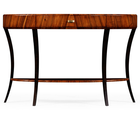 Jonathan Charles - Art Deco Large Demilune Console Table - 494087-SAH-BRS