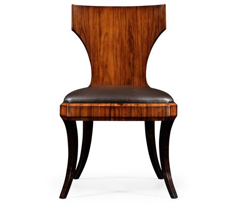 Jonathan Charles - Art Deco Klismos Side Chair - 494090-SAH