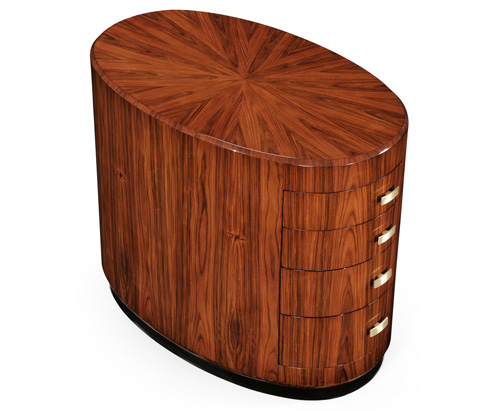 Jonathan Charles - Art Deco Oval Chest Of Drawers - 494169-SAH-BRS