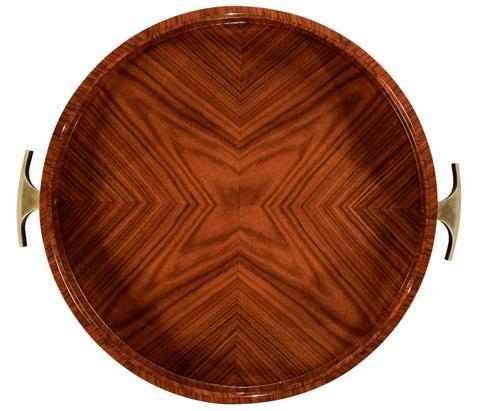 Jonathan Charles - Art Deco Round Tray - 494424-SAH-BRS