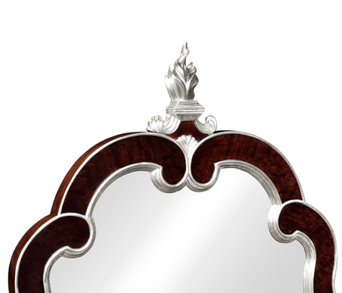 Jonathan Charles - Gilded Silver-Leaf Hanging Mirror - 495407-BEC