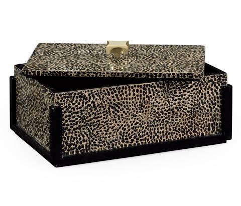 Jonathan Charles - Rectangular Box With Brass Handle - 495488