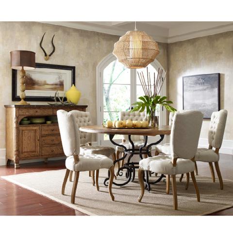 Kincaid Furniture - Tufted Chair in Antique Caramel - 90-2464R