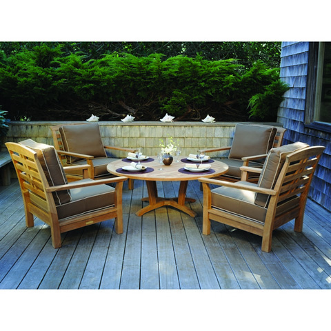 Kingsley-Bate - Round Chat Table with Umbrella Hole - CT55
