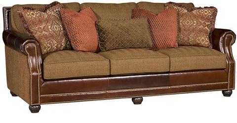 King Hickory - Julianna Leather and Fabric Sofa - 3000-LF
