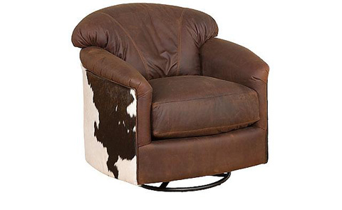 King Hickory - Zeuss  Fabric Swivel Glide Chair - 0541-S
