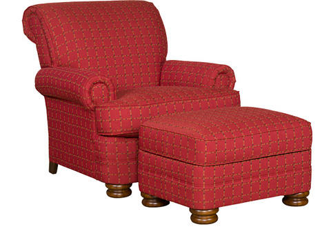 King Hickory - Monica Chair with Ottoman - 741/748