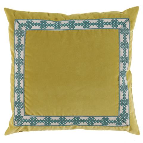 Lacefield Designs - Velvet Throw Pillow Lime - D803