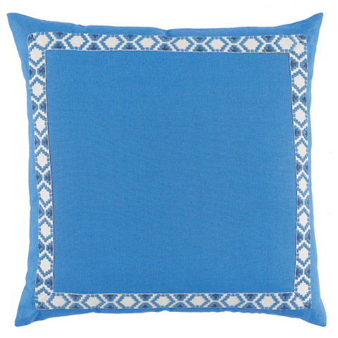 Lacefield Designs - Solid Royal Border Throw Pillow - D995