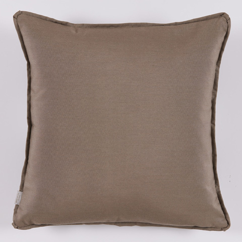 Lacefield Designs - Taupe White Floral Medallion Outdoor Pillow - OUT21