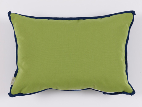 Lacefield Designs - Ginko Green Blue GeometricOutdoor Lumbar Pillow - OUT30
