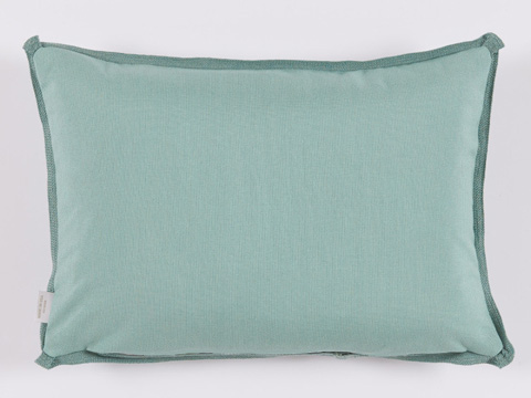 Lacefield Designs - Mint SurfGeometric Print Outdoor Lumbar Pillow - OUT35