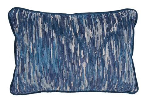 Image of La Costa Blue Lumbar Pillow