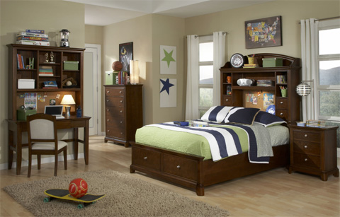 Legacy Classic Furniture - Full Bookcase Bed with Storage - 2880-4804K