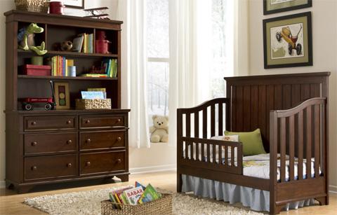 Legacy Classic Furniture - Nursery Dresser with Hutch - 2960-1100/7201