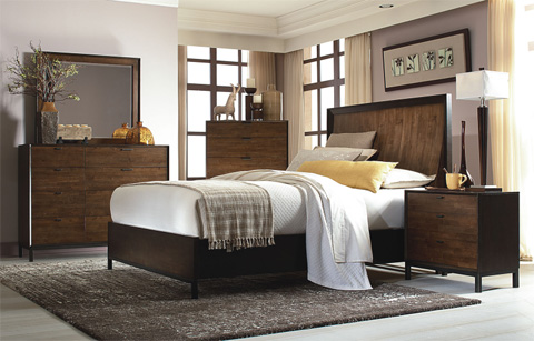 Legacy Classic Furniture - Kateri Curved California King Panel Bed - 3600-4107K