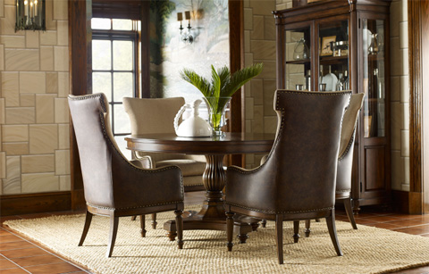 Legacy Classic Furniture - High/Low Round to Oval Pedestal Table - 5200-521K