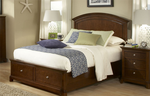 Legacy Classic Furniture - Twin Panel Bed with Storage - 2880-4103SK