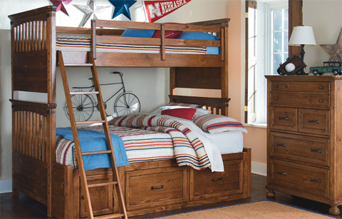 Legacy Classic Furniture - Twin over Twin Bunk Bed - 3900-8110K