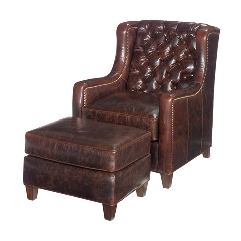 Image of Gibson Leather Ottoman