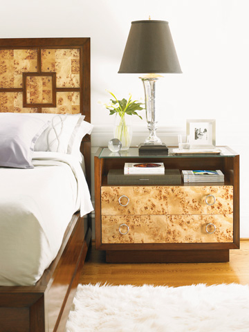 Lexington Home Brands - Bergman Glass Top Nightstand - 458-621