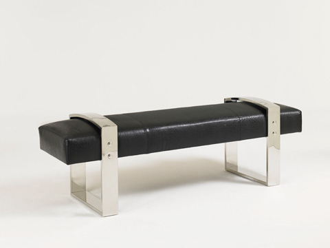 Lexington Home Brands - Ascension Leather Metal Bench - LL7587-25BB
