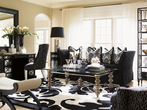 Lexington Home Brands - Macaulay Leather Ottoman - LL1512-44