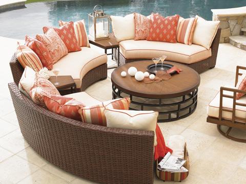 Tommy Bahama - Armless Curved Sofa - 3130-82A