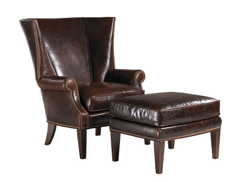 Image of Marissa Leather Wing Chair